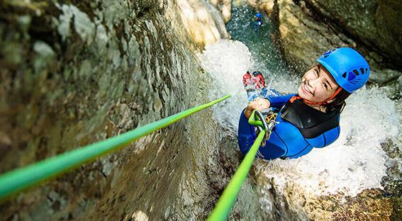 Canyoning in Bovec, Soca Valley, Slovenia
