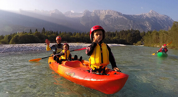 Family holiday in Bovec, Soca Valley Slovenia